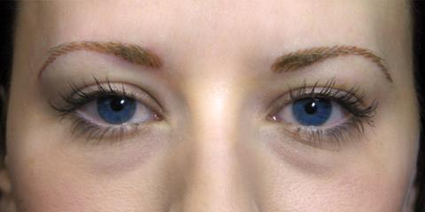 Eyebrows permanent cosmetics, after photo